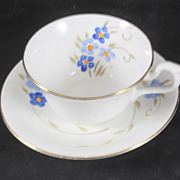 Delphine Fine Bone China Cup & Saucer featuring Flowers