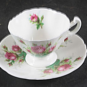 Hammersley Grandmother's Rose AD Cup & Saucer