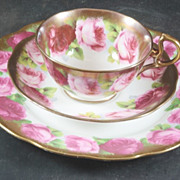 Royal Albert Old English Rose Trio Cup & Saucer plus Plate Early Mark
