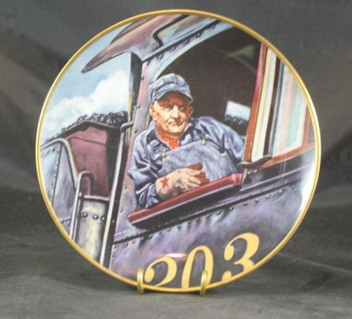 The Engineer a Collectors Plate by Ted Xaras