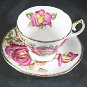 Windsor Rose Fine Bone China Cup & Saucer Queen Anne