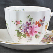Royal Crown Derby Fine Bone China Cup & Saucer Posey Pattern