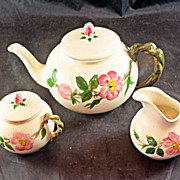 Franciscan Desert Rose Teapot Cream & Sugar