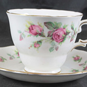 Fine Bone China Cup & Saucer featuring ROSES by Royal Vale