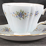 Fine Bone China Cup & Saucer featuring Forget Me Nots by Colclough