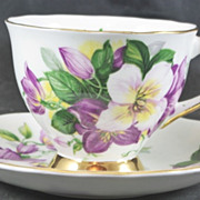 Royal Darwood Fine Bone China Cup & Saucer Clematts