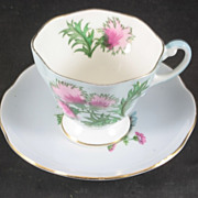 Foley China Cup & Saucer featuring Thistles