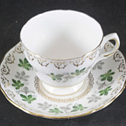 Colclough China Cup & Saucer featuring Maple Leaves