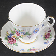 Royal Grafton fine Bone China Cup & Saucer FLOWERS