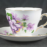 Royal Vale Cup & Saucer featuring Violets