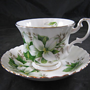 Royal Albert Fine Bone China Trillium Cup & Saucer