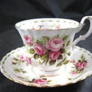 Royal Albert Flower of the Month JUNE Fine Bone China Cup & Saucer