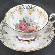 Paragon Cup & Saucer Fruit and Roses