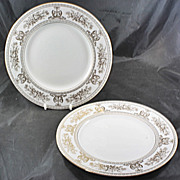 2 Dinner Plates WEDGWOOD Gold Columbia Never Used