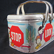 Jiminy Cricket Stop Look & Listen Lunch Box Walt Disney Productions