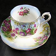 Royal Albert Wild Geranium Fine Bone China Cup & Saucer