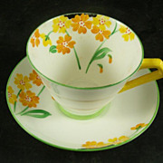 Paragon Art Deco Floral Cup & Saucer