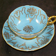 COALPORT Fine Bone China Cup & Saucer Heavy Gold Trim