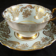 Paragon Fine Bone China Cup &  Saucer Fancy Gold Trim