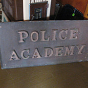 Wooden Trade Sign Police Academy