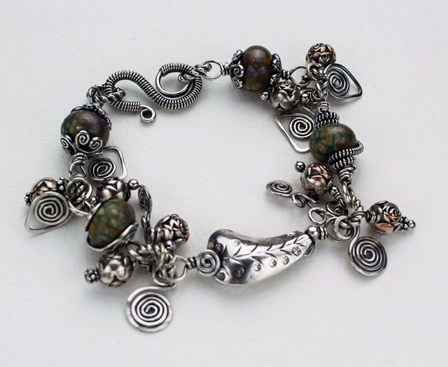 Sterling Silver Small Leaf Treasure Bracelet
