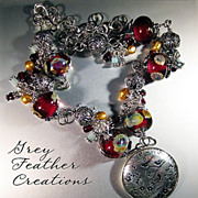 Sterling Silver Artisan Lampwork in Red Necklace