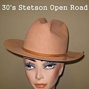 Vintage Stetson Open Road Hat - Ride 'em Cowgirl!