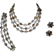 Swarovski NailHead Crystal Necklace, Bracelet & Earrings,Vendome Couturier / Coro Parure