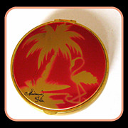 Vintage Miami Tourist Flamingo Compact
