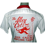 60's Women's Bowling Shirt, Alley Cats!
