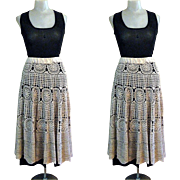 Vintage Lace Skirt. 60's Funky Party