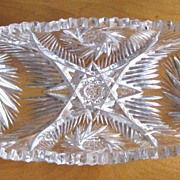 Cut Glass / Crystal Celery Dish, American Brilliant Period