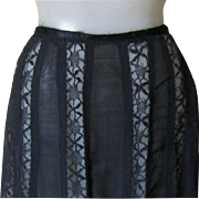 Downton Abbey Black Lace Panel Skirt, Minty Late Victorian!