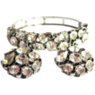 Rhinestone Clamper Bracelet & Earrings, 50's Lisner Demi