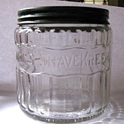 Palmolive Shaving Cream Jar, Glass & Lid, Brushless