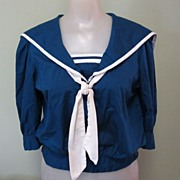 Vintage Sailor Blouse, 40's 50's Adorable