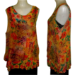 Vintage 80�s Silky Layered Sleeveless Blouse, Sheer URU