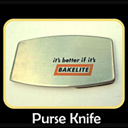 60s Zippo Pocket Knife, Bakelite Advertising Promotion