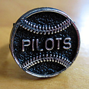 Vintage 1969 Seattle Pilots Plastic Black Ring