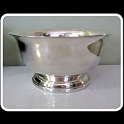 Silver Plate Serving Bowl, Sheffield Silver Co. USA, 50s Vintage