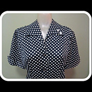 40's Swing Dance Dress, Polka Dot Jitterbug & Jive