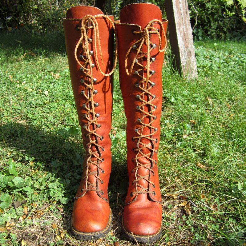 Lace Up Leather Boots, Vintage Go Go, 1971, Hunger Games