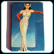 Celluloid Purse Mirror, Glamour Girl, 30's, 40's, Deco Hollywood!