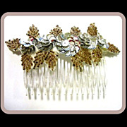 Beaded & Sequined Hair Comb, 70's Sparkle!