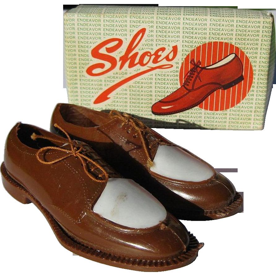 Vintage Cake Decoration Men S Spectator Wing Tip Shoes
