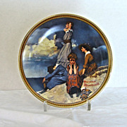 Norman Rockwell Plate Knowles Waiting on the Shore