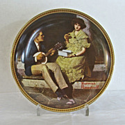 Norman Rockwell Plate Knowles Pondering on the Porch