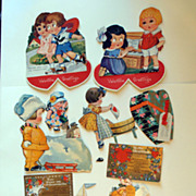Huge Lot of Vintage Mechanical Valentines Heart, Lovers, Friends