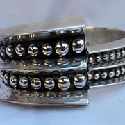Vintage Taxco Sterling SIlver Bracelet Mid Century Modern