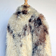Rare Exotic Natural  Vintage Mongolian Fur Coat Jacket